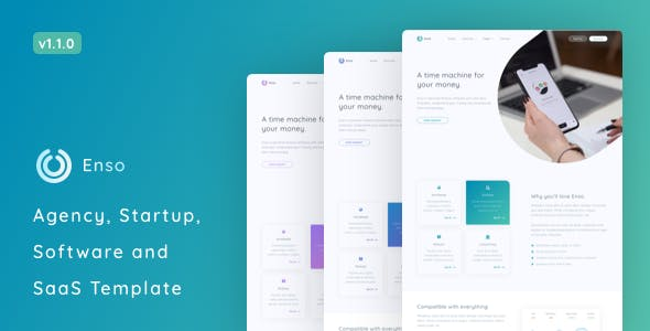 Enso - Agency, Startup and SaaS Template