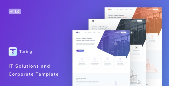 Turing v1.1.0 – IT Solutions and Corporate Template