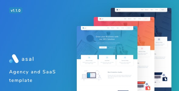 Asal v1.1.0 – Agency and SaaS Template
