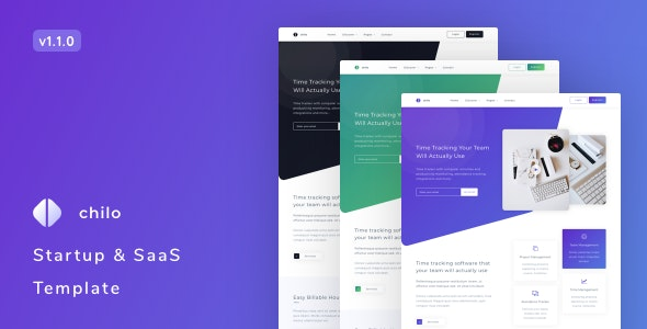 Chilo – Startup and SaaS Template