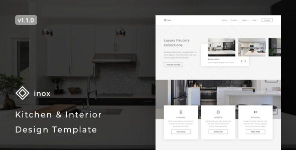 inox v1.1.0 – Kitchen & Interior Design Template