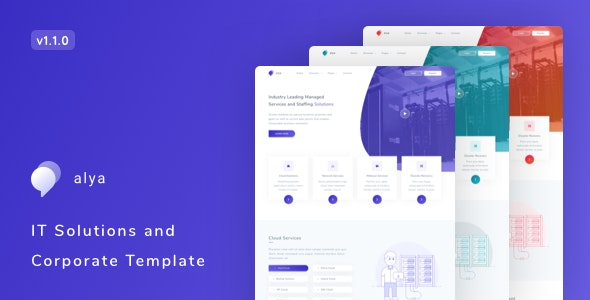 Alya v1.1.0 – IT Solutions and Corporate Template