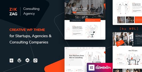 ZikZag - Consulting & Agency WordPress Theme - Corporate WordPress
