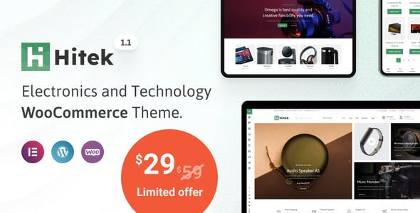 Hitek - Electronics WooCommerce Theme