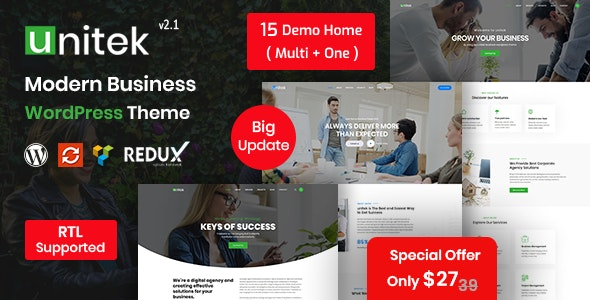 Unitek - Business WordPress Theme - Corporate WordPress