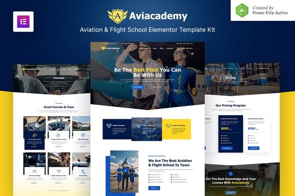 Aviacademy – Aviation & Flight School Elementor Template Kit - Business & Services Elementor