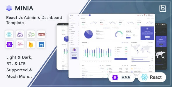 Minia - React Admin & Dashboard Template - Admin Templates Site Templates
