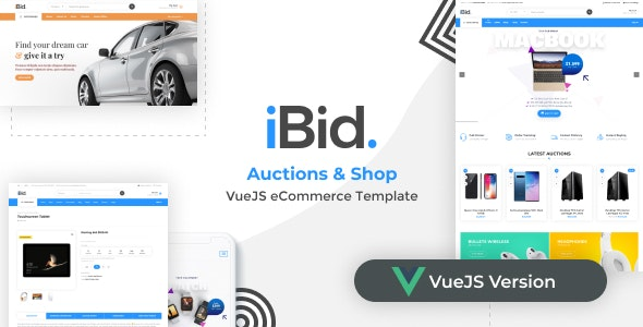 iBid - VueJS eCommerce & Auctions Template - Shopping Retail
