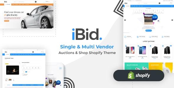 iBid - Single & Multi Vendor Auctions Shopify Theme - Shopping Shopify