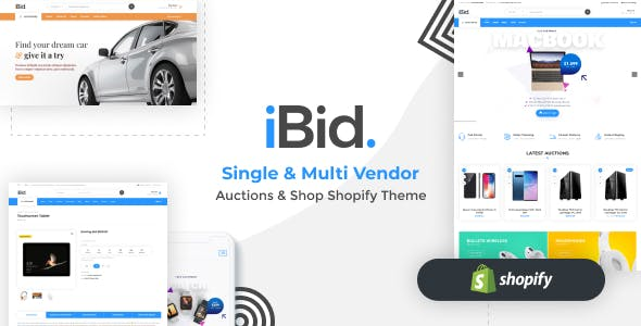 iBid - Single & Multi Vendor Auctions Shopify Theme
