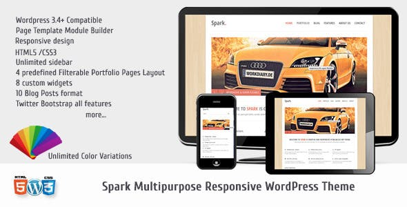 Spark Responsive Multi-Purpose WP Theme