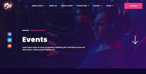 Junio - E-Sport Gaming Events & Streamer Elementor Template Kit