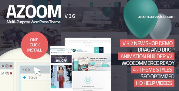 Azoom   Multi-Purpose Theme with Animation Builder - Corporate WordPress