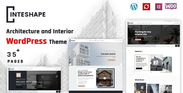 Inteshape - Architecture and Interior WordPress Theme - Business Corporate
