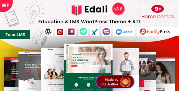 Edali - LMS, Online Courses & Education Center WordPress Theme