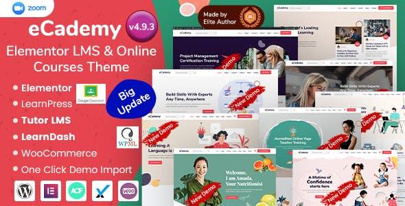 eCademy - Elementor LMS, Online Courses & Training Education Theme