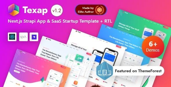 React Strapi App & SaaS Startup Template - Texap