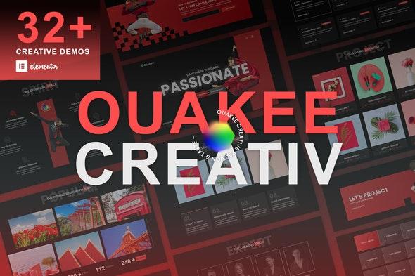Ouakee - Creative Company & Professional Portfolio  Elementor Template Kit - Creative & Design Elementor