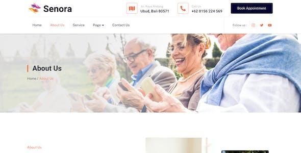 Senora – Senior Care Services Elementor Template Kit