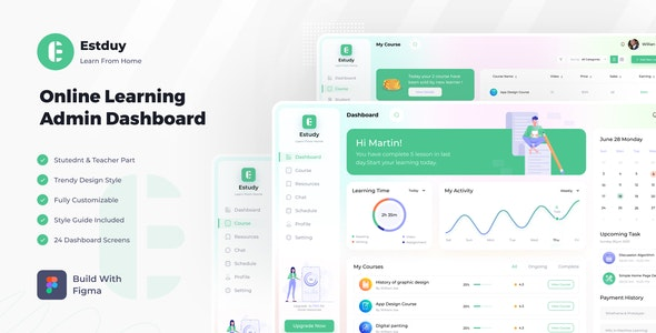 E-Study   Online Learning Dashboard - Business Corporate