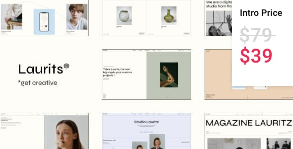 Laurits - Portfolio and Agency Theme