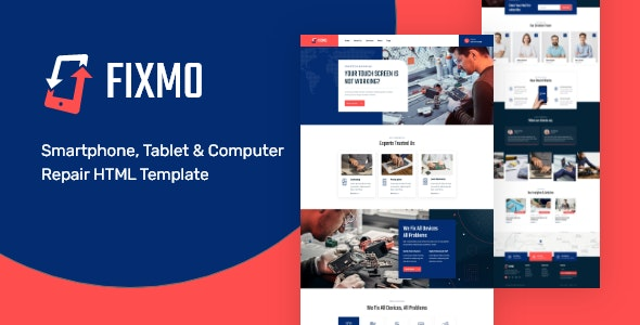 Fixmo – Smartphone Repair Services HTML Template - Computer Technology