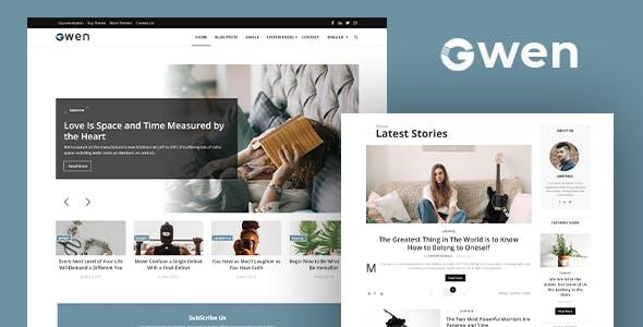 Gwen - Blog and Magazine Joomla Theme