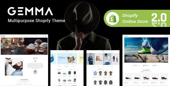 Gemma – Fashion & Barber Shop Shopify Theme