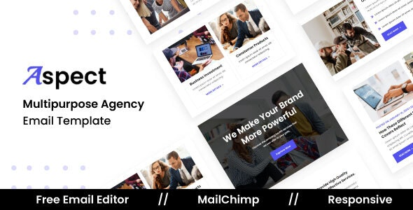 Aspect Agency - Multipurpose Responsive Email Template - Newsletters Email Templates