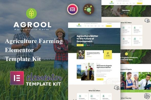 Agrool - Agriculture Farming Elementor Template Kit - Food & Drink Elementor