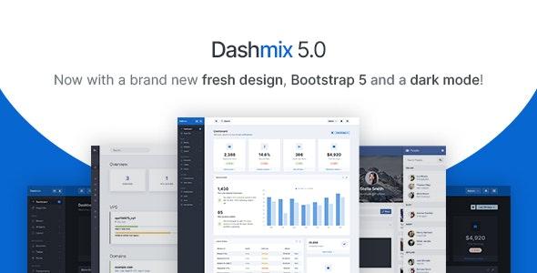 Dashmix v5.0 – Bootstrap 5 Admin Dashboard Template & Laravel 8 Starter Kit
