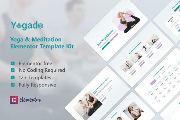 Yogado - Yoga & Meditation Elementor Template Kit - Sport & Fitness Elementor