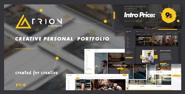 Trion - Creative Responsive Personal Agency Portfolio - Personal Site Templates