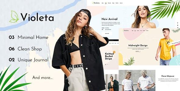 Violeta - Minimal Shop PSD Template