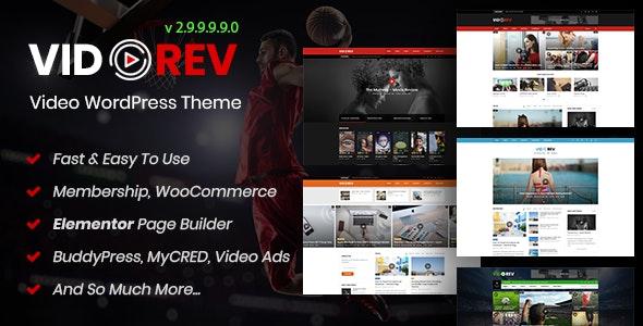 VidoRev - Video WordPress Theme - Blog / Magazine WordPress