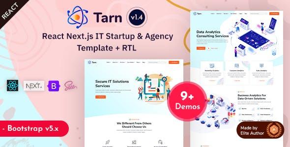 Tarn - React Next IT Startup & Business Agency Template