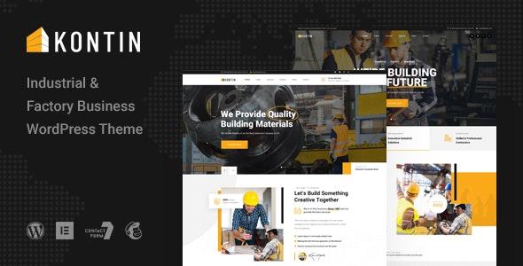 Kontin - Industrial & Factory WordPress Theme - Business Corporate
