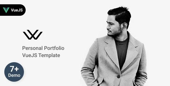 Waxon - Personal Portfolio VueJS Template + RTL - Virtual Business Card Personal