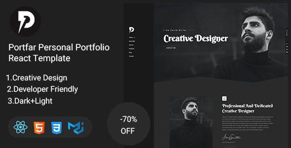 Portfar - Personal Portfolio React Template