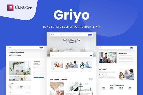 Griyo - Real Estate Elementor Template Kit - Real Estate & Construction Elementor