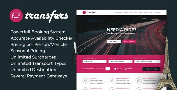 Transfers - Transport and Car Hire WordPress Theme - Travel Retail
