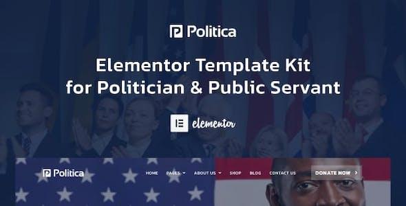 Politica - Politician & Public Servant Elementor Template Kit