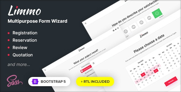 Limmo - Multipurpose Form Wizard - Specialty Pages Site Templates