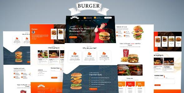 Burger –Unbounce Landing page