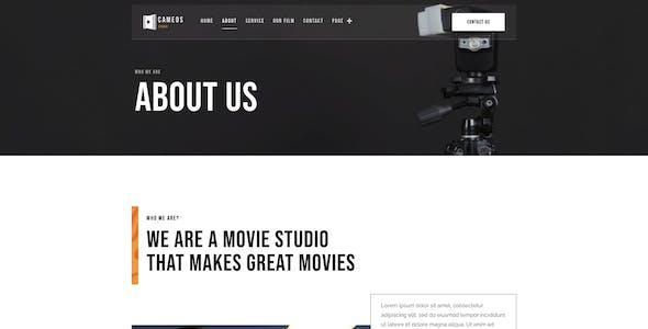 Cameos | Film Maker & Movie Studio Elementor Template Kit