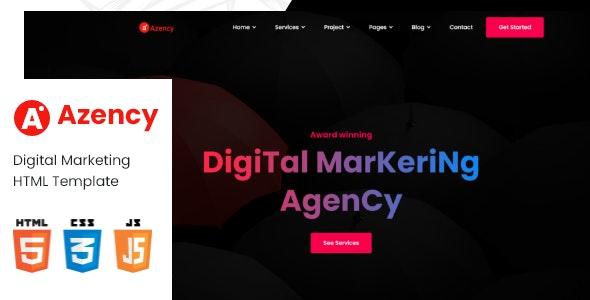 Azency - Marketing Agency Html Template - Technology Site Templates