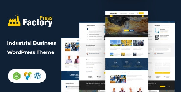 FactoryPress - Factory, Company And Industry WP Theme - Business Corporate