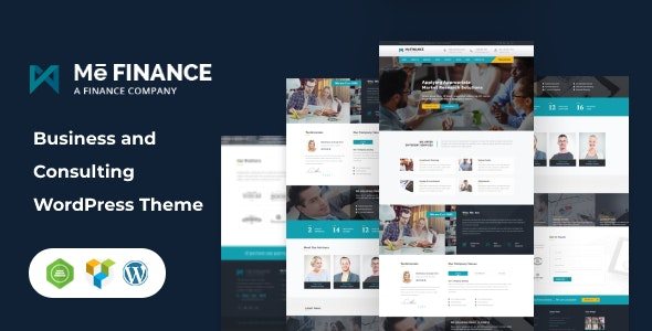 Me Finance - Business and Consulting WordPress Theme - Business Corporate
