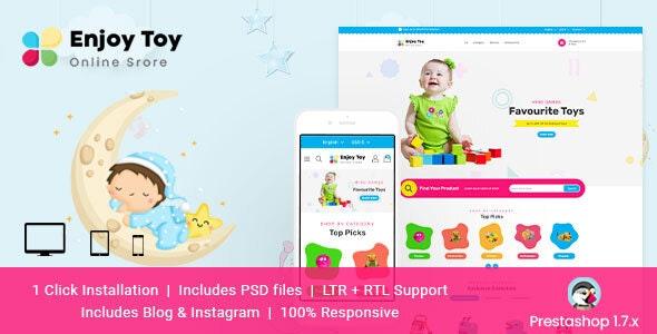 Enjoy Toy Responsive Prestashop Theme - PrestaShop eCommerce