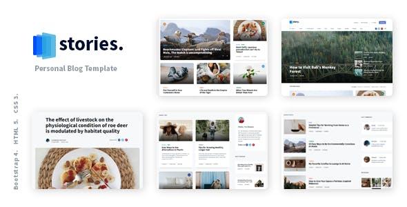 Stories - Personal Blog React NextJS Template